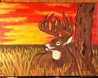 Resting Buck Painting