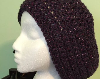 Charcoal soft slouchy hat