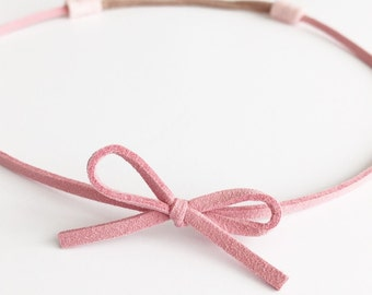 Suede wrap around bow headband (choose your color)