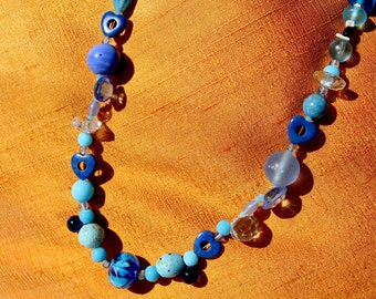 Unique'True Love 'necklace with lapis lazuli heart, model New