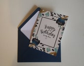 Birthday Card - To My Love (Private listing for Corbin Englerth)