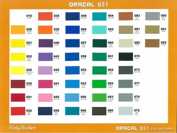 Oracal 651 12x12 Sheets Adhesive Vinyl Decal By Mbcraftsupply