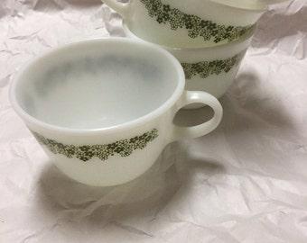 Set of 8 Vintage Pyrex Cups