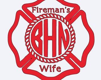 Fireman's Wife Vinyl Decal