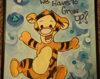 Bouncing Tigger with Quote
