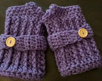 Crocheted Fingerless Gloves