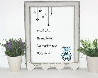 Digital print for a nursery.