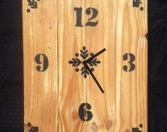 Homemade Pallet Clock 4