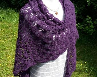 Luxurious triangle shawl / wrap