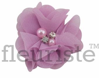 """HYACINTH 2"""" Chiffon Flower, Wholesale Flower, Fabric Flower, Headband Flower, Wedding Flower, Flower Embellishment, Diy Flower, Headband"""