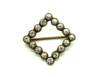 Antique Victorian c.1890 Paste Square Pin Brooch