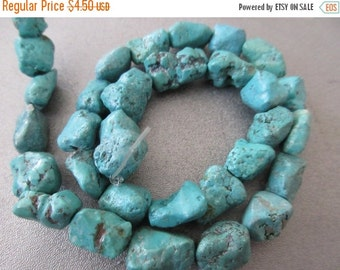 ON SALE Turquoise Nuggets Beads 30pcs