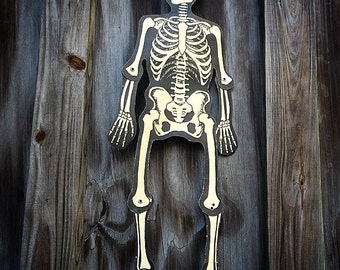 Vintage Halloween Skeleton Die cut 1960's