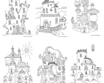Fantasy Houses Coloring Pages - Set2