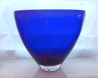 LARGE Vintage Retro MURANO Cased Purple & Red Art Glass VASE