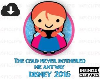 Disney Frozen Printable Disney Iron On Transfer or as Clip Art, DIY Disney Shirt, Personalized, Frozen Fever, Spring, Summer, Elsa, Anna