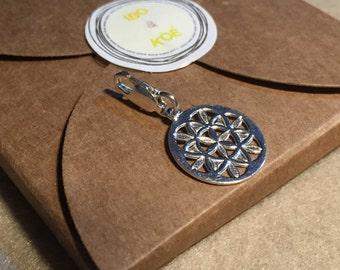 Silver charm for bracelet - Medal