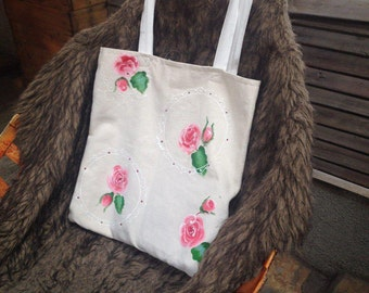 Hand-painting canvas tote bag