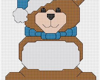 Winter Bear 3x4 inch cross stitch pattern