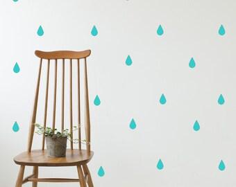 Wall Stickers Rain/Tear drop Vinyl Kids Room Pattern Decal Sticker Wall Decals Matte Vinyl