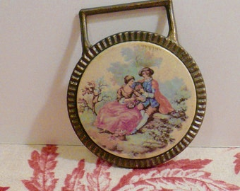 Vintage Medallion Mystery Thingy Victorian Image Home Decor Wall Hanging Reclaim Hanger Curtains