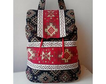 Armenian Taraz Ornaments Handmade Bag - Backpack