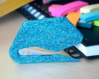 Turquoise Glitter Envelope Opener, Office Supplies, Glitter Office Supplies,  Letter Opener, Turquoise