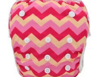 Reusable Swimming Nappies/Diapers - Zig Zag