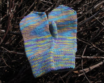 "Knitting mittens wool multicolor ""Hipster"""