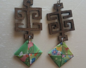 Earrings in Japanese style