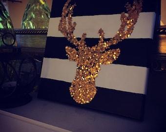 Glitter Buck Canvas