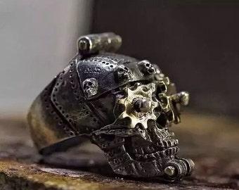 Hand made sterling silver skull ring