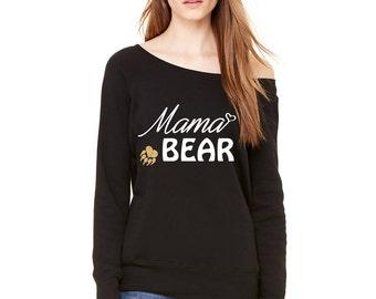 Mama Bear Wideneck Sweater
