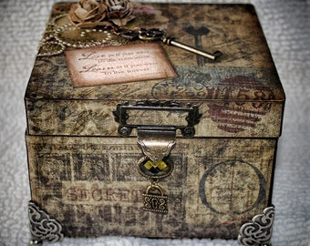 Decorative Wooden Treasure Box
