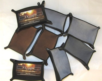 Sale- Half price Sale - Leather  and Suede Lined Business Card Holder with 100% Leather