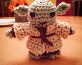 Star Wars Inspired Yoda Amigurumi Crocheted Doll