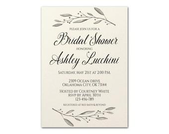 Bridal Shower Invitation, Elegant Bridal Shower Invite, Bridal Shower Printable, Elegant Bridal Shower, Bridal Shower, Bridal Shower Brunch