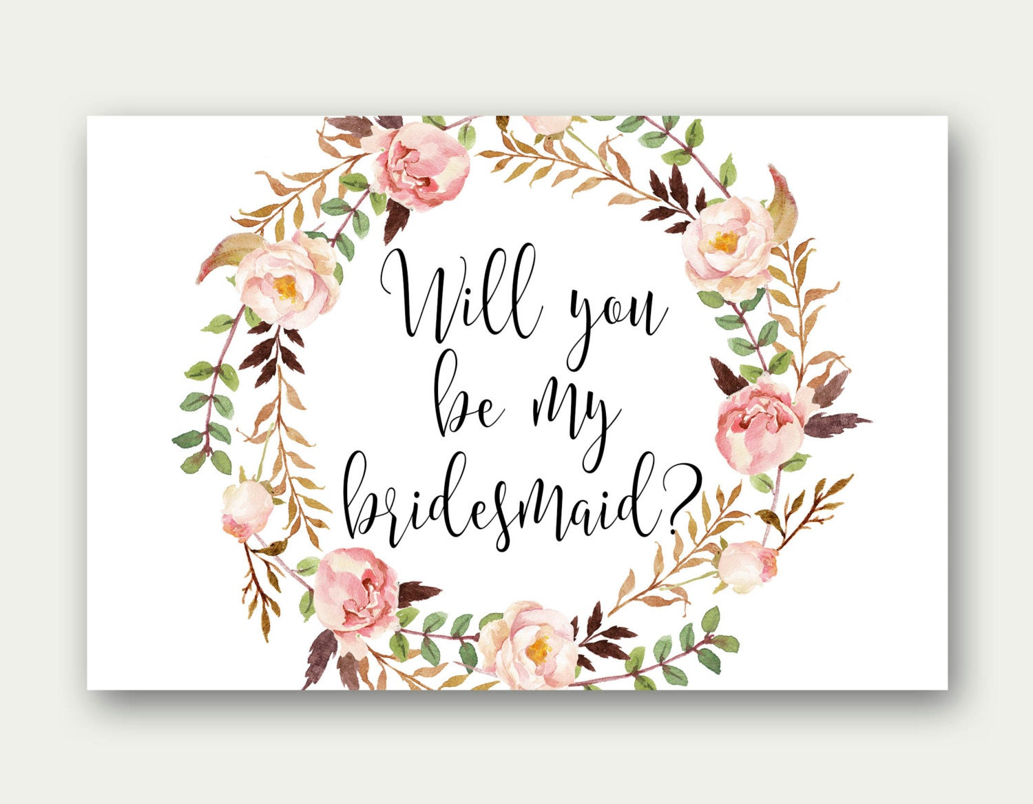 Enterprising image with printable will you be my bridesmaid