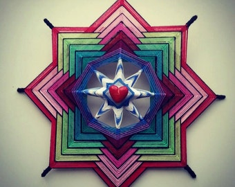 """Mandala Ojo de Dios """"Love"""""""
