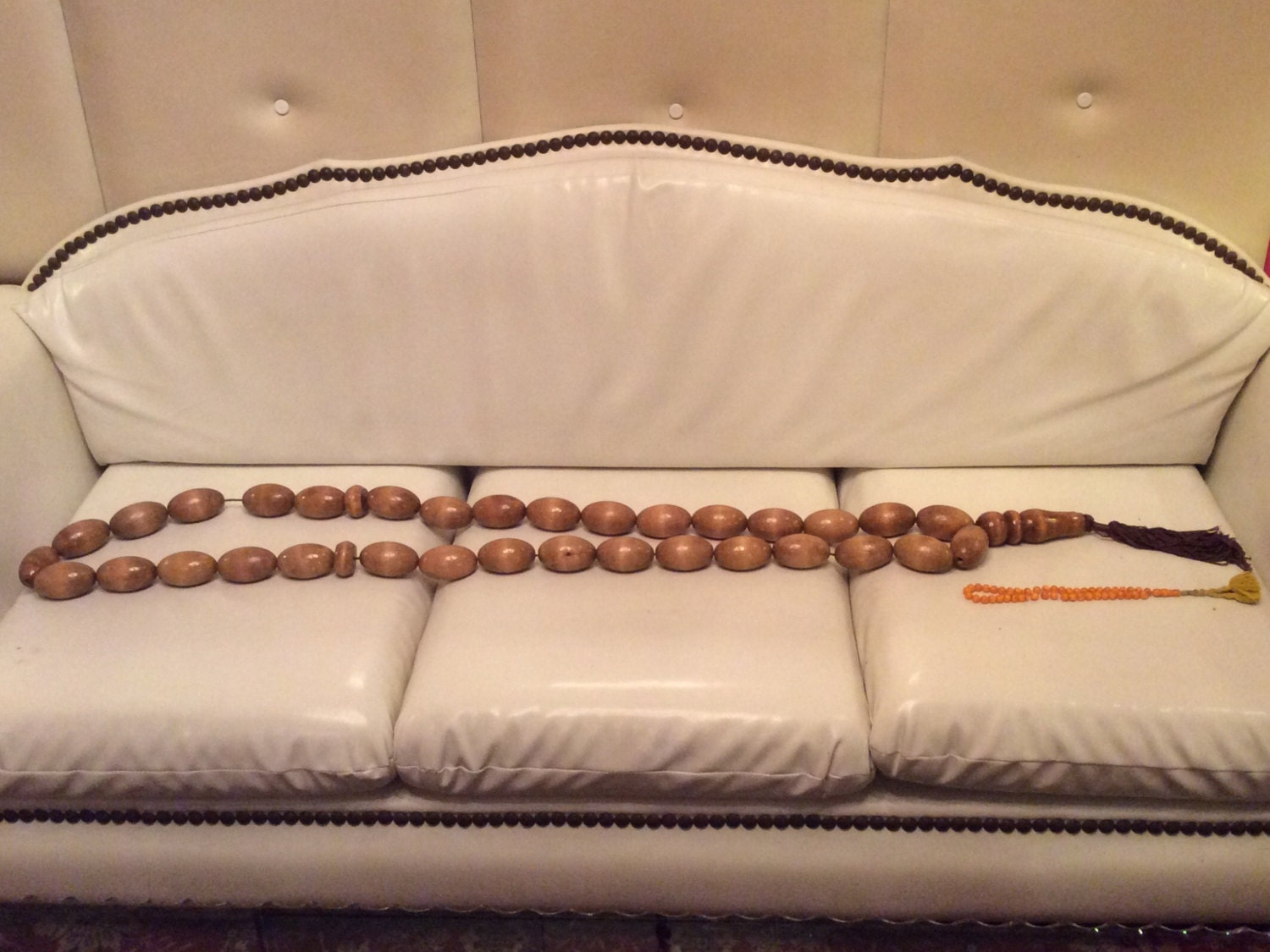 The Giant Wooden Rosary Natural Wood Naturel Color 120