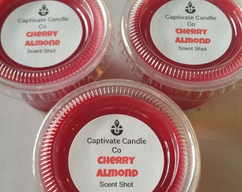 Cherry Almond Wax Melt/ WaxTart/ Scent Shot/ Soy /Flameless/ 1 oz
