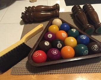 Vintage mini pool balls