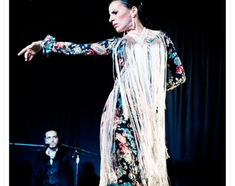 Strips Lace Fringed silk to cross. Flamenco Costumes
