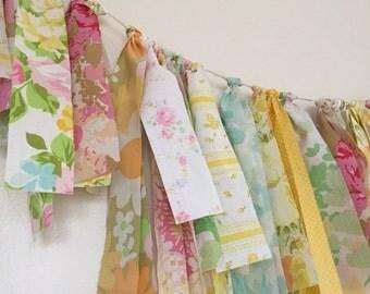 Handmade Vintage Fabric Bunting