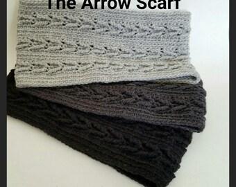 The Arrow Scarf; cowl, crochet, winter accessories, spring accessories, winter fashion, spring fashion,