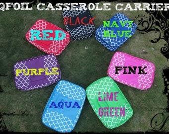 Quatrefoil Casserole Carrier, Casserole Carrier