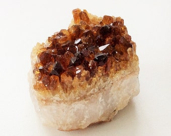 Vintage Small Rock with Russet-Colored Crystals