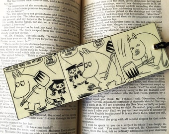Moomin bookmark. Moomins, great gift.