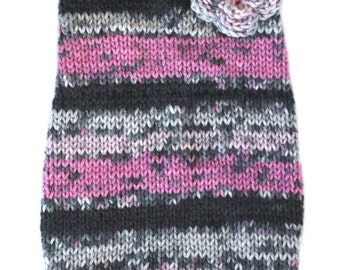 Small Dog Sweater - Chihuahua - Yorkie - Puppy - Hand Knit - Dog Clothes