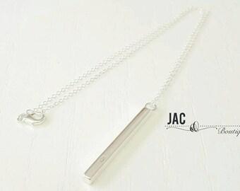 Silver Block Silver Necklace